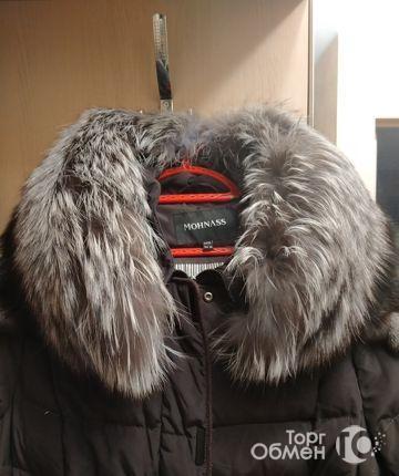 Пуховик магазинный зимний натур пух р. 50-54 - Фото 2