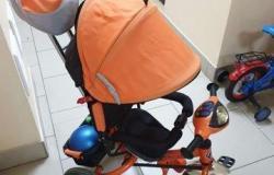 Детский велосипед с родительской ручкой в Барнауле - объявление №617491