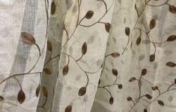 Тюль лен, хлопковый вензель, вышивка на сетке 3 ме в Омске - объявление №617663
